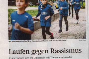 Laufen gegen Rassismus